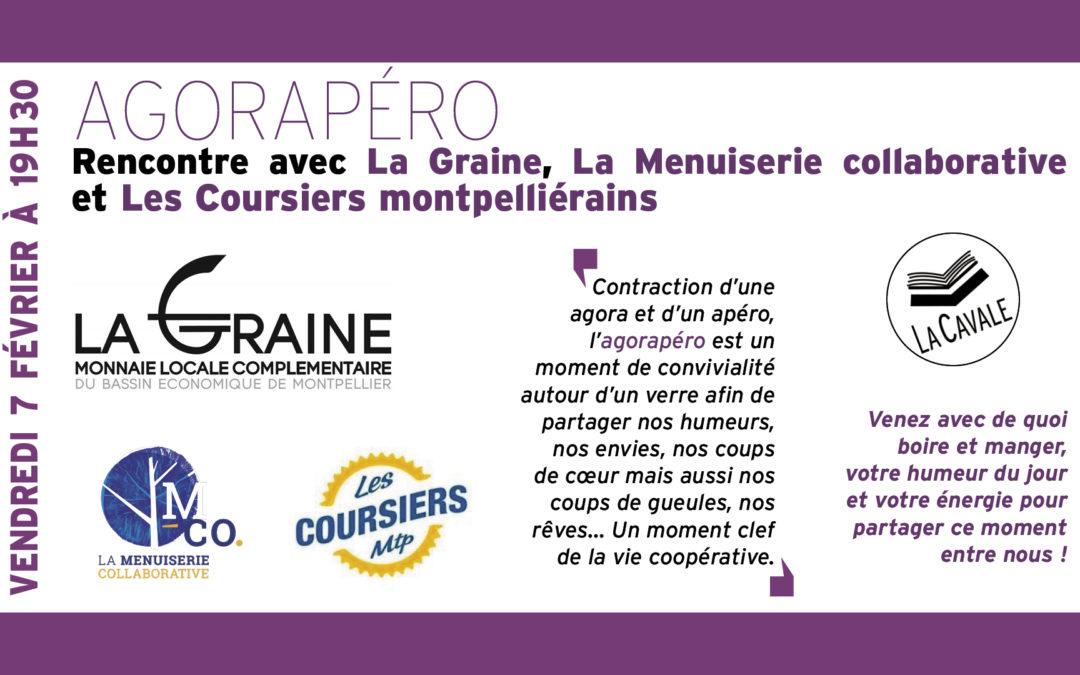 Agorapéro : rencontre avec La Graine, La Menuiserie collaborative et Les Coursiers montpelliérains